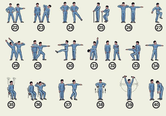 физических упражнений для
