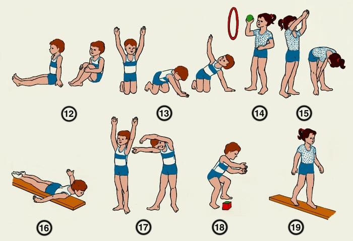 Гимнастика для спины детям