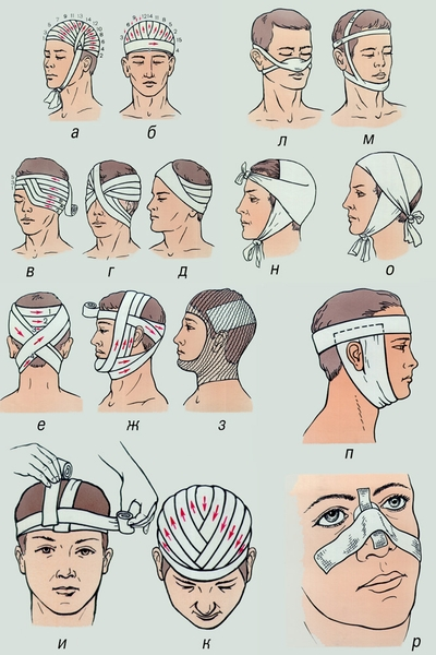 Выкройка повязка на глаз